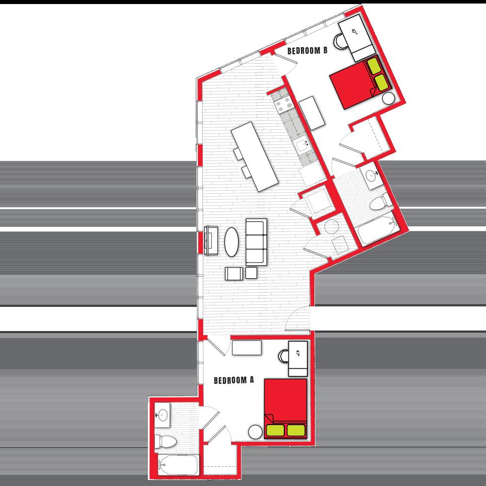 Stanhope Apartments floor plan 2d