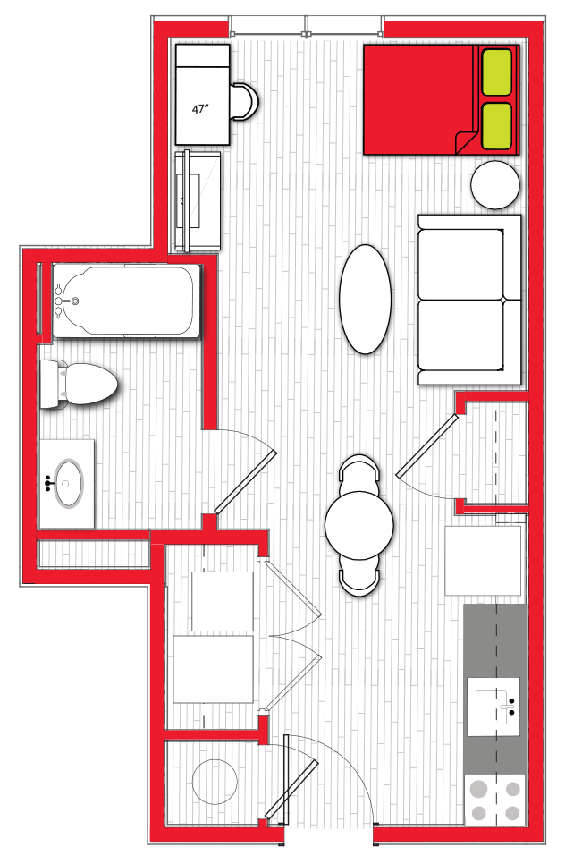 Stanhope Apartments floor plan s1