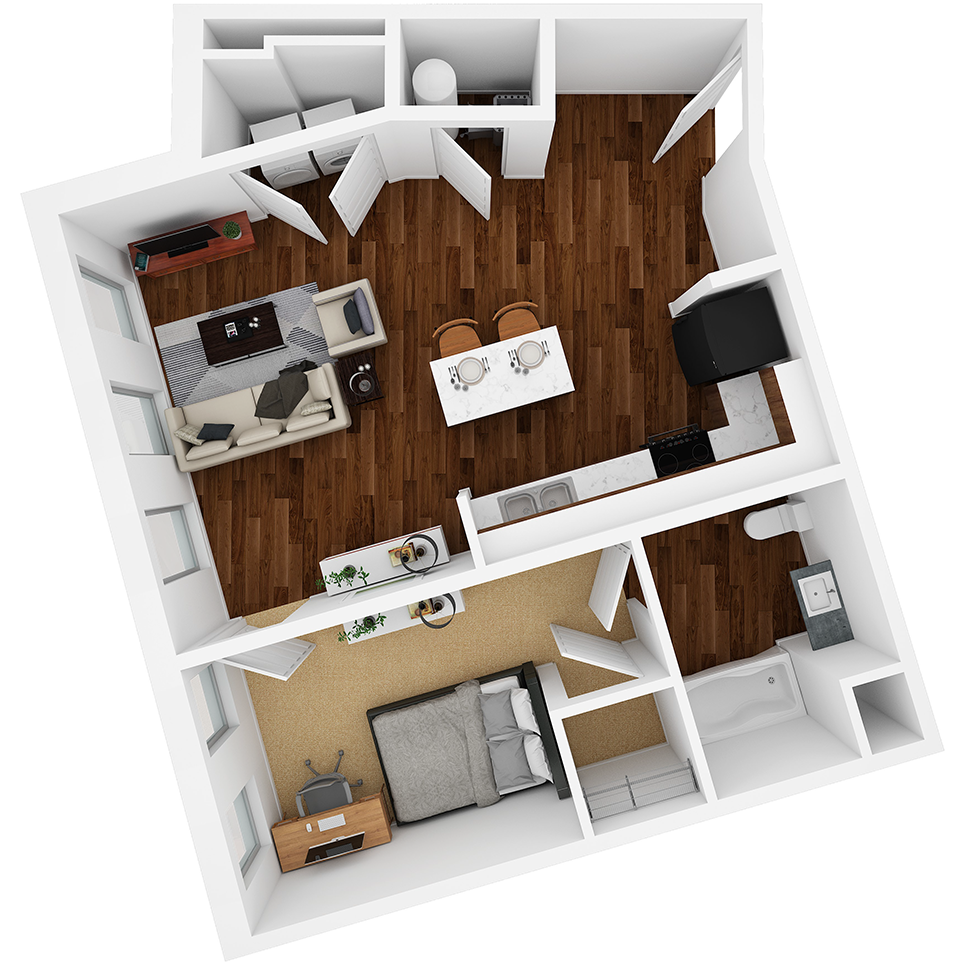 Stanhope Apartments floor plan 1C