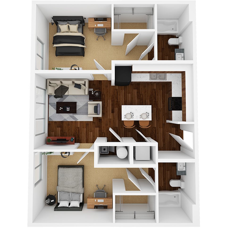 Stanhope Apartments floor plan 2A