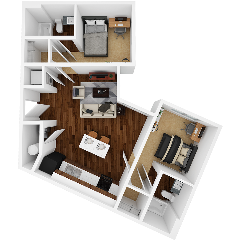 Stanhope Apartments floor plan 2C