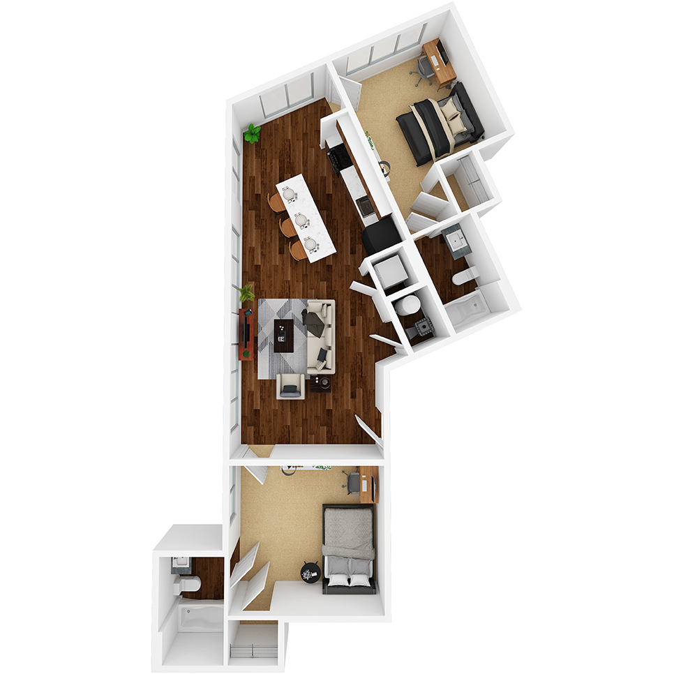 Stanhope Apartments floor plan 2D