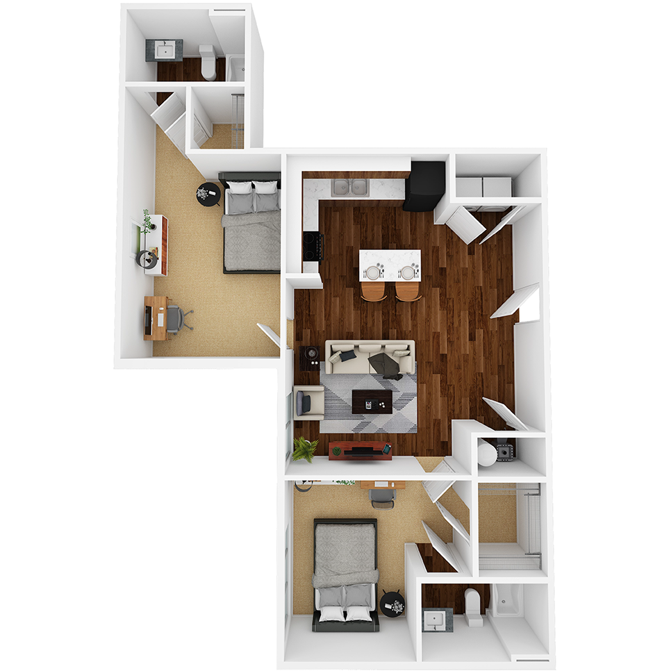 Stanhope Apartments floor plan 2E