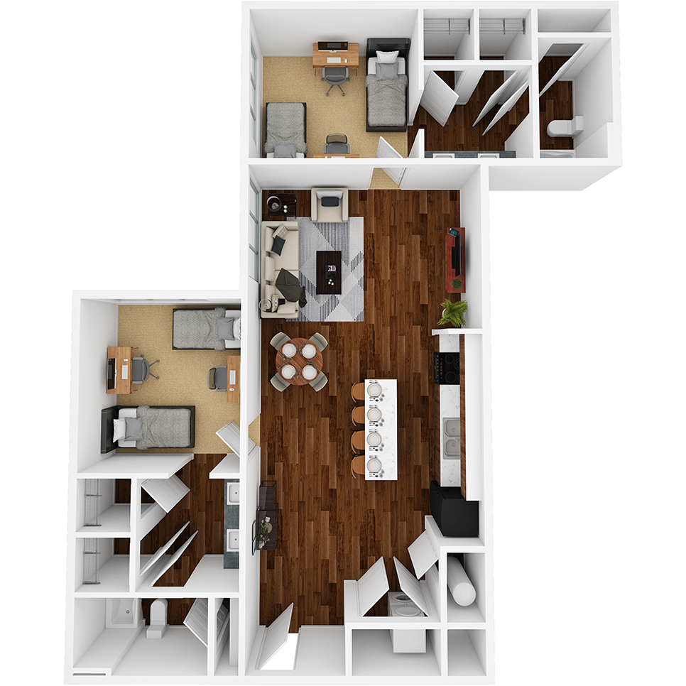Stanhope Apartments floor plan 2F