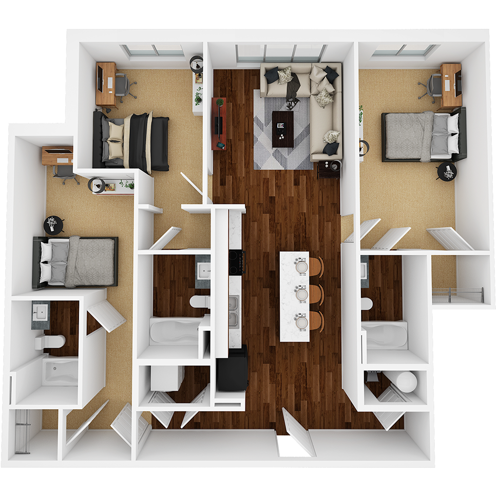 Stanhope Apartments floor plan 3C