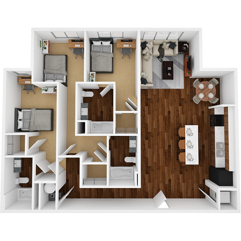 Stanhope Apartments floor plan 3E