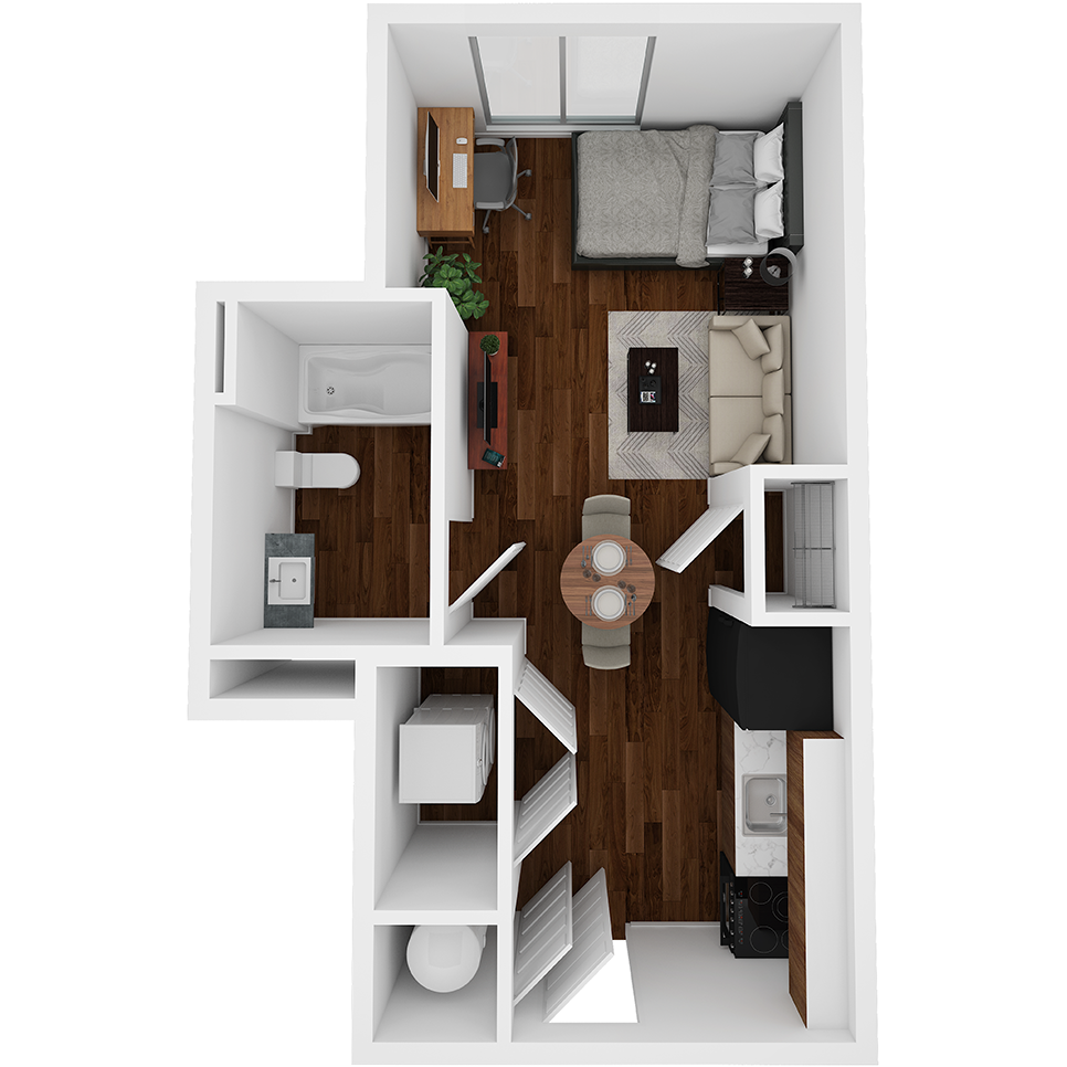 Stanhope Apartments floor plan S1
