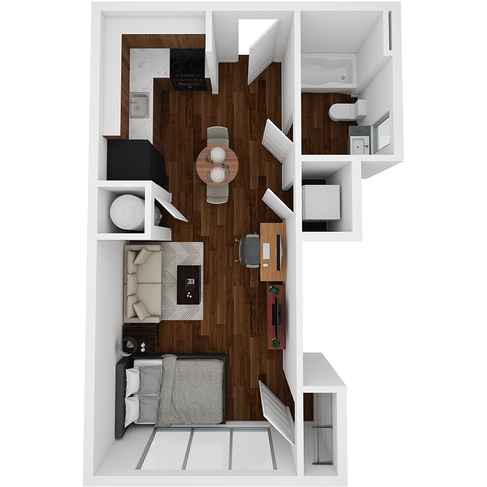 Stanhope Apartments floor plan S3