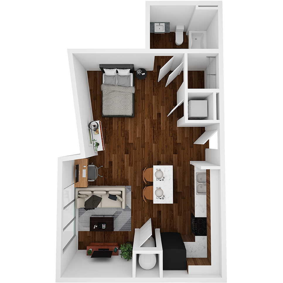 Stanhope Apartments floor plan S4