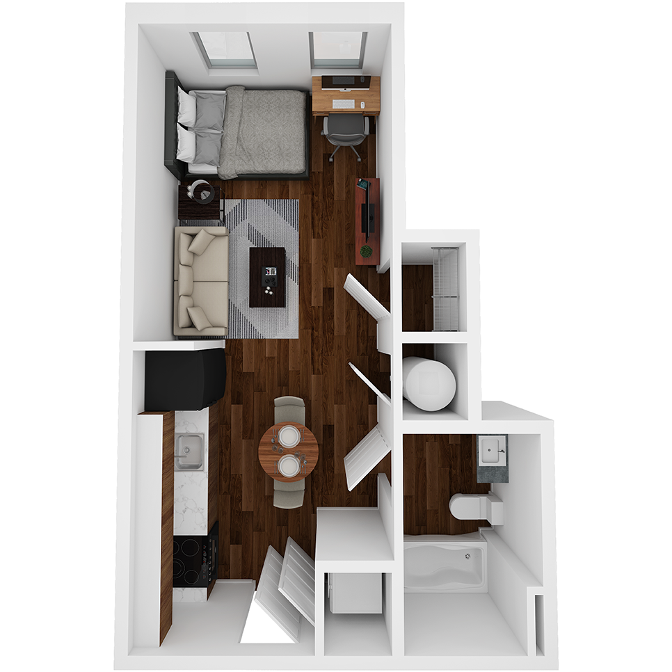 Stanhope Apartments floor plan S6