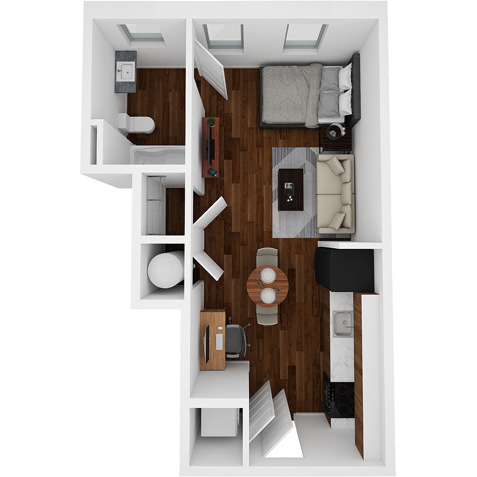 Stanhope Apartments floor plan S7