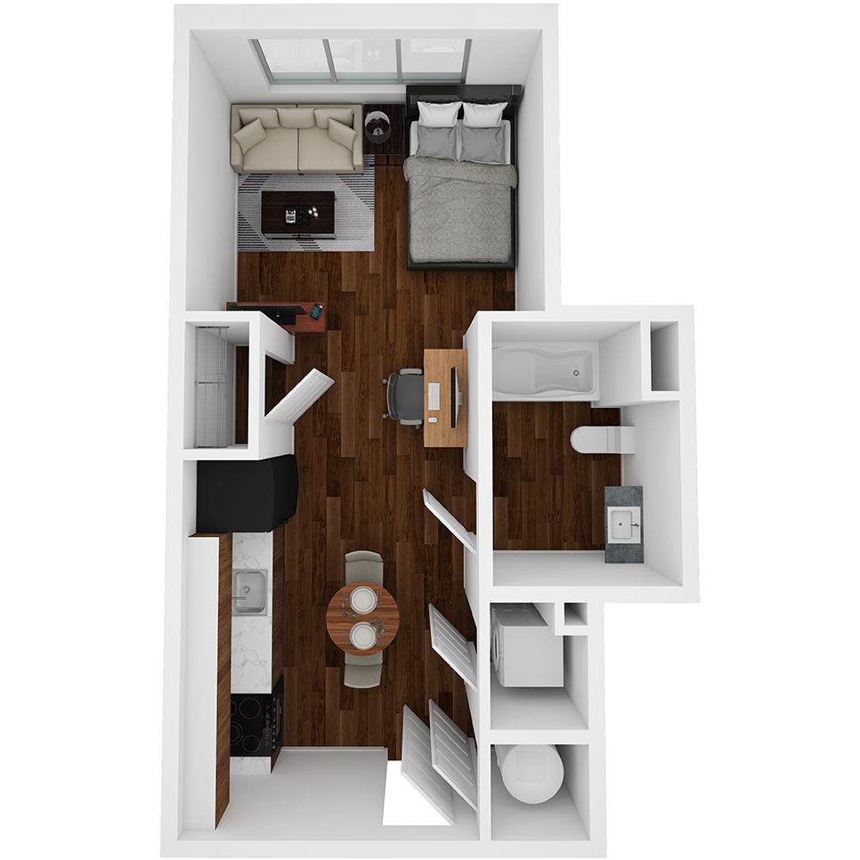 Stanhope Apartments floor plan S8