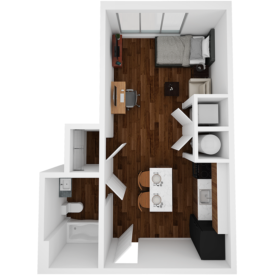 Stanhope Apartments floor plan S9